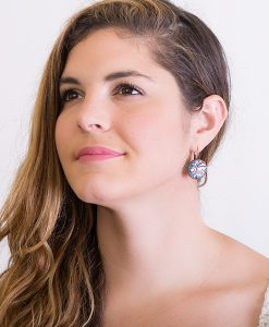 Adelaide Circle Leverback Earrings