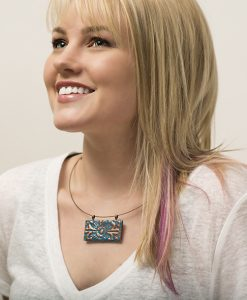 Adelaide Horizontal Choker Necklace Model