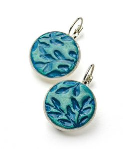 Alina Circle Leverback Earrings