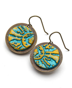 Isabelle Circle Frenchback Earrings