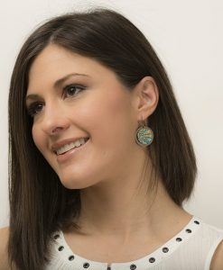 Isabelle Circle Frenchback Earrings Model