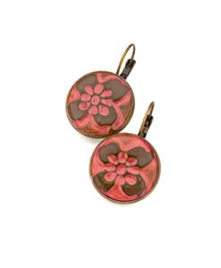 Jennings Circle Leverback Earrings