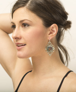 Madison Medallion Earring Model