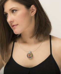 Raleigh Circle Small Necklace Model