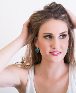 Alessa Circle Frenchback Earring Model