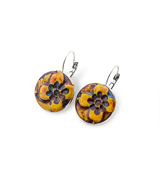 Josette Circle Leverback Earrings