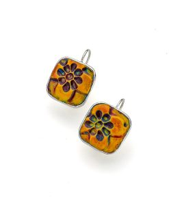 Josette Square Frenchback Earrings