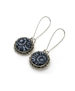 Kaya Circle Dangle Earrings
