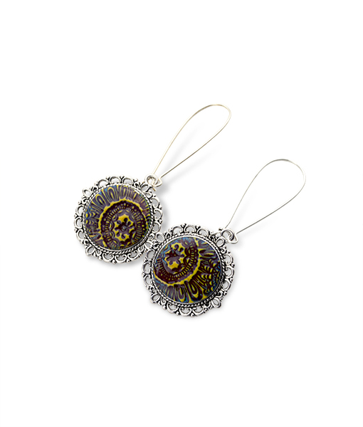 Madison Circle Dangle Earrings