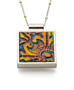 Raleigh Square Chain Necklace