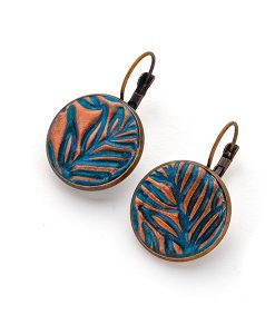 Alenna Circle Leverback Earrings_F