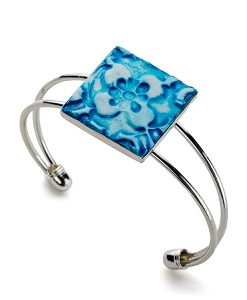 Avalon Flower Square Cuff Bracelet_F