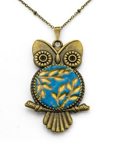 Florence Owl Chain Necklace