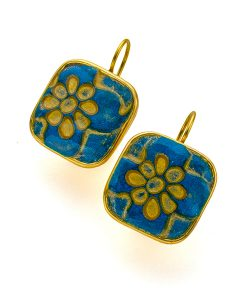 Geneva Square Frenchback Earrings