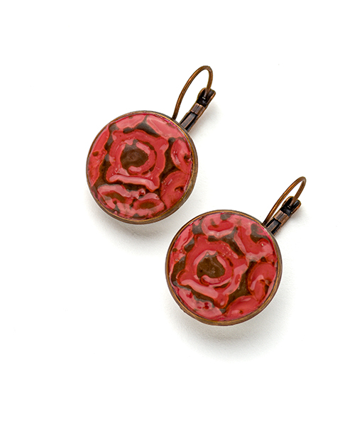 Helena Circle Leverback Earrings