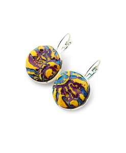 Raleigh Circle Leverback Earrings