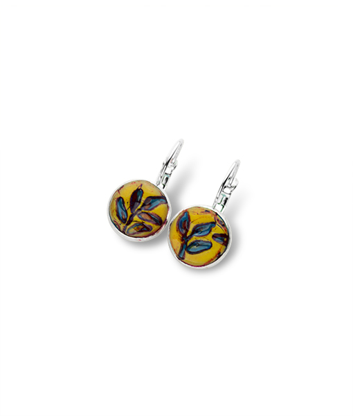 Dakota Circle Junior Leverback Earrings