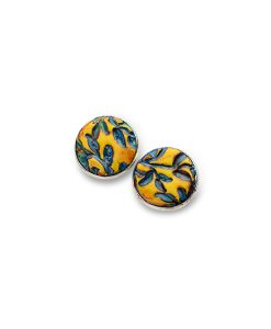Dakota Circle Large Stud Earrings