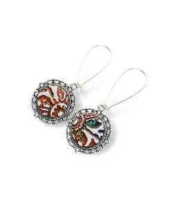 Sahara Circle Dangle Earrings