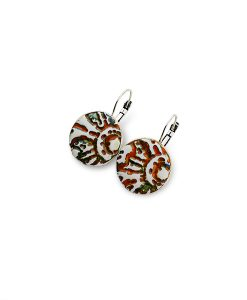 Sahara Circle Leverback Earrings