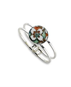 Sahara Flower Circle Bangle Bracelet