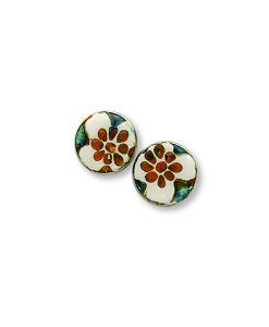 Sahara Flower Circle Large Stud Earrings