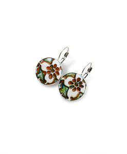 Sahara Flower Circle Leverback Earrings