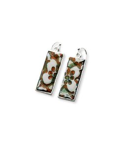 Sahara Flower Rectangular Frenchback Earrings