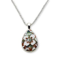 Sahara Flower Teardrop Chain Necklace