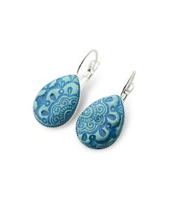 Havana Teardrop Leverback Earrings