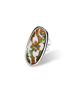 Sahara Flower Oval Finger Ring