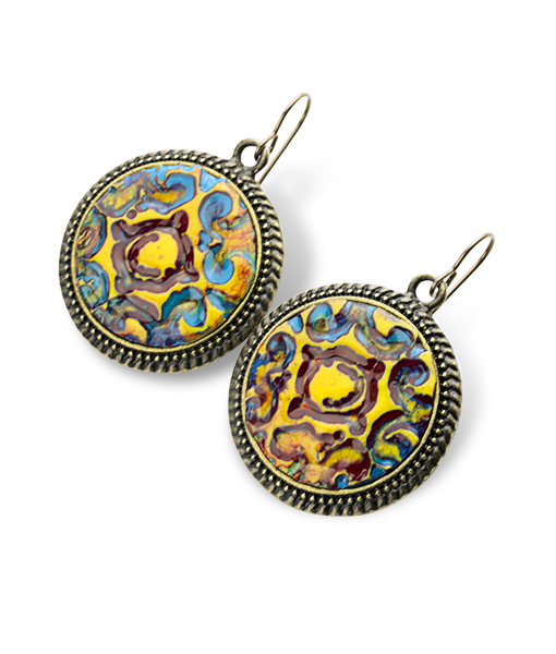 Savannah Circle Dotted Dangle Earrings