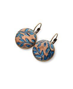 Valencia Circle Leverback Earrings